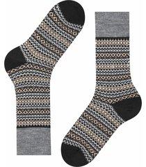 burlington socks country fair isle socks | black multi | 21922-3000