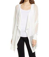 women's nordstrom mesh open cardigan, size x-large/xx-large - ivory