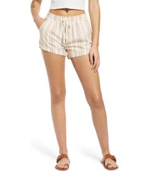 women's billabong road trippin' shorts, size small - brown