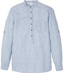 camicia a maniche lunghe in lino e tencel ™ (blu) - john baner jeanswear