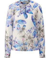 blouse met lange mouwen en manchetten van uta raasch multicolour