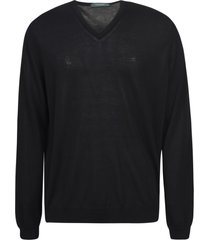 zanone v-neck plain sweatshirt