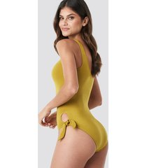 trendyol binding detailed swimsuit - green,yellow