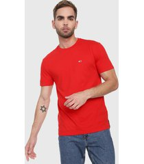 camiseta coral tommy jeans
