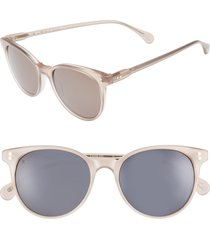 women's raen norie 51mm cat eye mirrored lens sunglasses - flesh