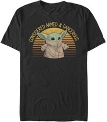 fifth sun men's sunset cute yoda short sleeve crew t-shirt