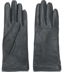 yves saint laurent pre-owned classic gloves - grey