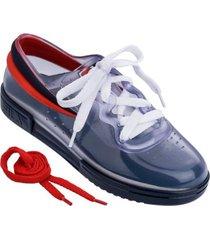 tenis melissa vidrio azul rojo sneaker  fila