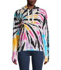 vintage havana women's tie-dyed dropped-shoulder hoodie - boardwalk - size l