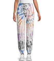 eleven paris women's tie-dye joggers - earth gene - size l