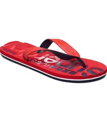 classic scuba flip flop shoes summer shoes flip flops röd superdry