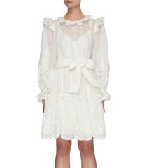'the lovestruck' rope embroidered ruffle trim tier dress