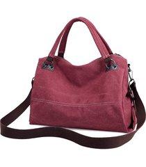 kvky donna casual vintage tote bag in tela borsa a mano con tracolla