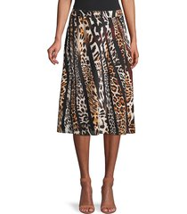 kobi halperin women's bari printed silk skirt - black multi - size xs