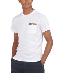 barbour men's durness tartan-trim pocket t-shirt