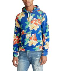 polo ralph lauren men's big & tall floral french terry hoodie