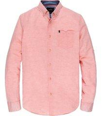 overhemd sleeve shirt linnen roze