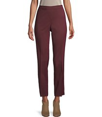 high waisted ankle zip trousers