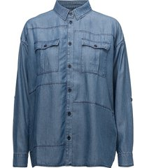 cat långärmad skjorta blå minimum