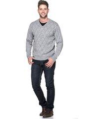 suéter passion tricot jacar cinza - kanui