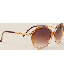 cannes square sunglasses - brown
