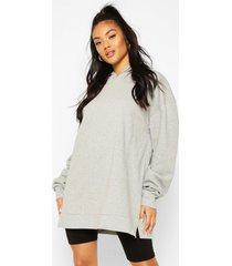 extreem oversized hoodie, grijs gemêleerd