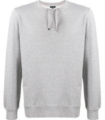 ron dorff sweatshirt drawstring - grey