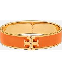 tory burch women's kira enamel 14mm bracelet - tory gold/mango