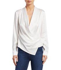 aurora drape shawl blouse