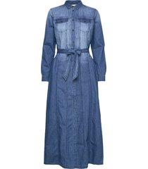 dress in denim w. long sleeves jurk knielengte blauw coster copenhagen