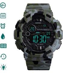 reloj skmei hombre digital militar deportivo camuflaje verde