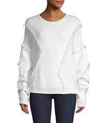 cotton-blend fringe sweater