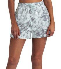 h halston women's drawstring shorts - tonal tie dye - size m