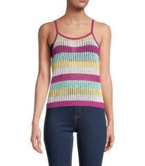 bcbgeneration women's striped halterneck sweater - size xs