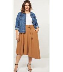 lane bryant women's lena skirt with buckle 22 caramel latte