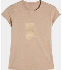 camiseta beige-amarillo seven seven