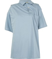 y/project infinity polo shirt - blue