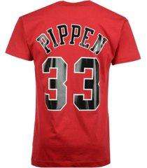 mitchell & ness men's scottie pippen chicago bulls hardwood classic player t-shirt