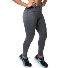 calça legging diversidade moda suplex mescla cinza