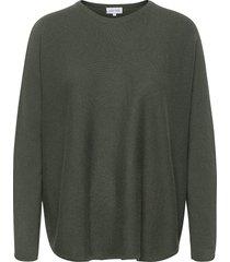 curved sweater stickad tröja grön davida cashmere