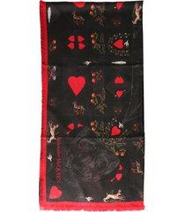 alexander mcqueen love note scarf