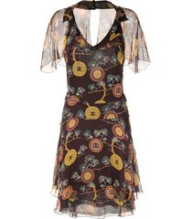 chanel pre-owned sleeveless one-piece dress - brown