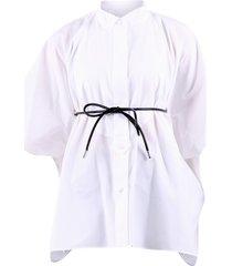 sacai belted shirt