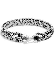 'asli classic chain' silver woven chain bracelet