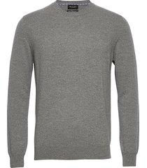 cashmere - iq stickad tröja m. rund krage grå sand