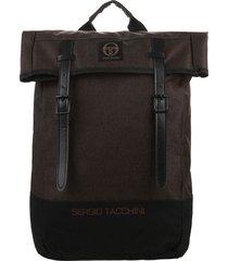 mochila marrón sergio tacchini
