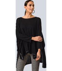 poncho alba moda zwart::zilverkleur