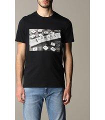 armani exchange t-shirt armani exchange crew neck t-shirt with domino logo