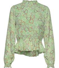 shirley, 783 hearts poly t-shirts & tops long-sleeved groen stine goya