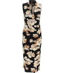 max mara studio floral print midi dress